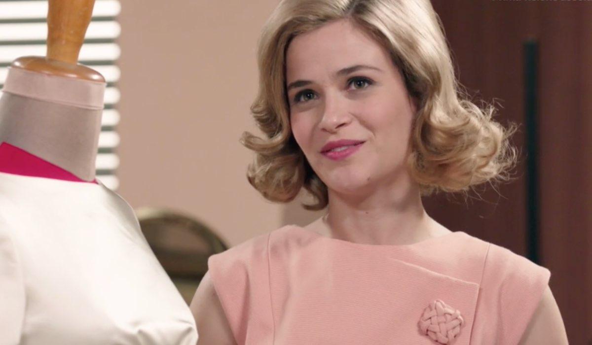 Il Paradiso delle Signore 4 Gabriella Rossi in Atelier interpretata da Ilaria Rossi, qui nella puntata 154 Credits RAI