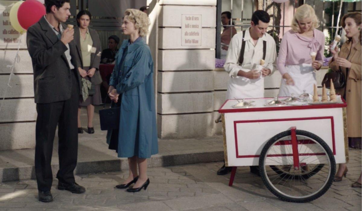 Il Paradiso delle Signore 4 Rocco e Irene interpretati da Giancarlo Commare e Francesca Del Fa nella puntata 160 Credits RAI