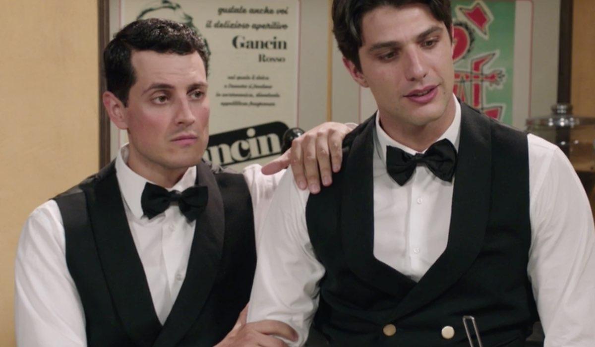 Il Paradiso delle Signore 4 Salvatore e Marcello interpretati da Emanuel Caserio e Pietro Masotti nella puntata 160 Credits RAI