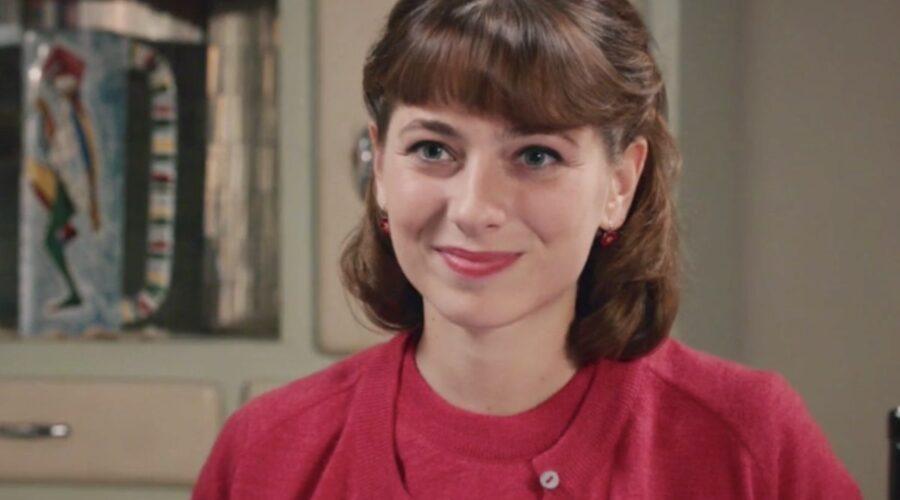 Il Paradiso delle Signore 5 Roberta Pellegrino interpretata da Federica De Benedittis, qui alla fine della puntata 2 Credits RAI