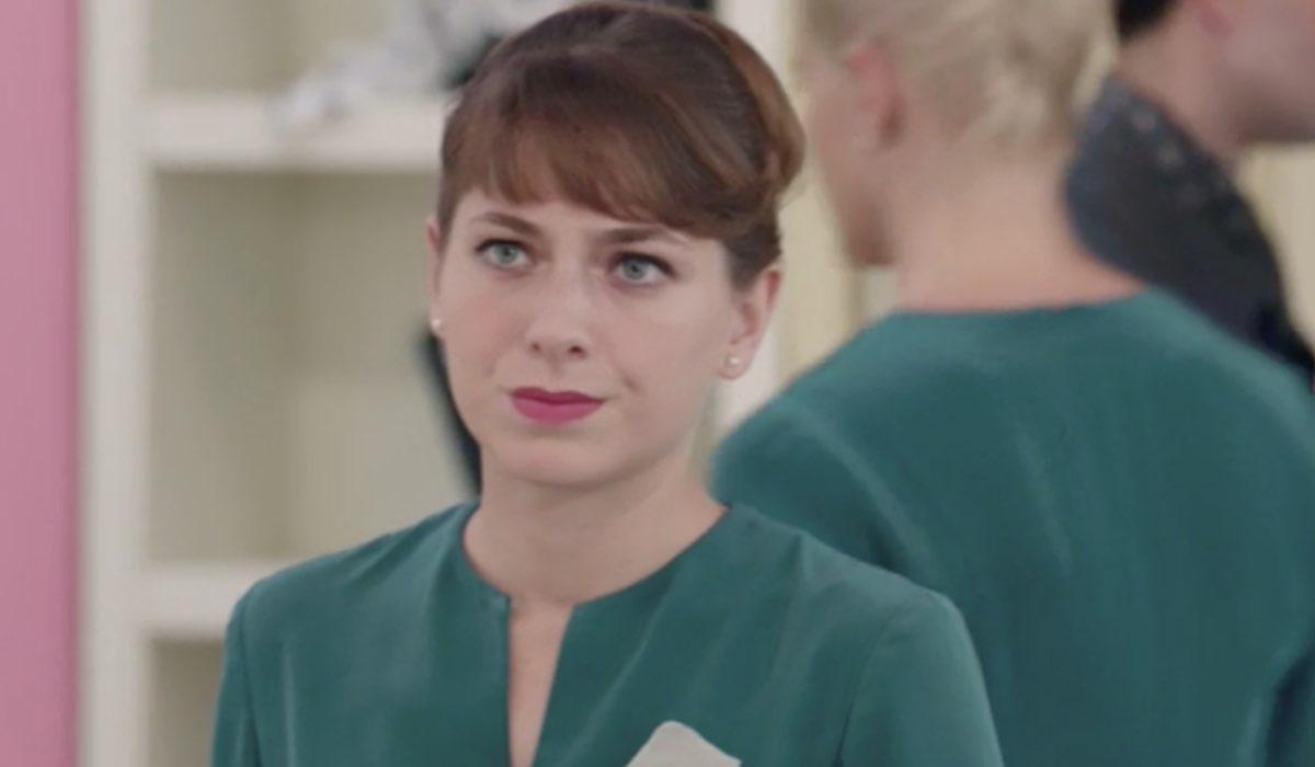 Il Paradiso delle Signore 5 Roberta Pellegrino interpretata da Federica De Benedittis, qui in una scena della puntata 8 Credits RAI
