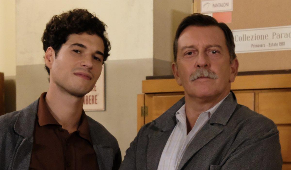 Il Paradiso delle Signore Rocco Amato e Armando Ferraris interpretati da Giancarlo Commare e Pietro Genuardi, qui in un posato per la stagione 4 Credits RAI