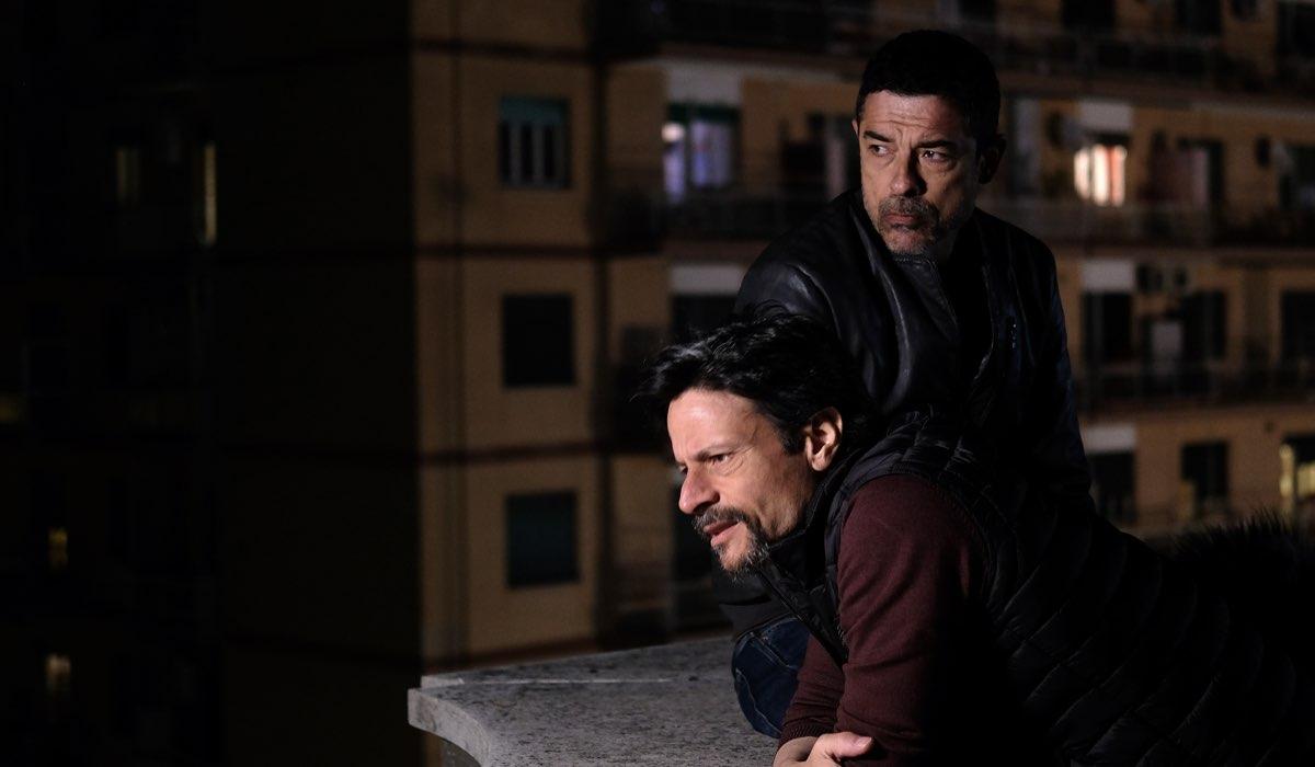 Io ti cercherò, qui Valerio e Gianni interpretati da Andrea Sartoretti e Alessandro Gassmann Credits RAI