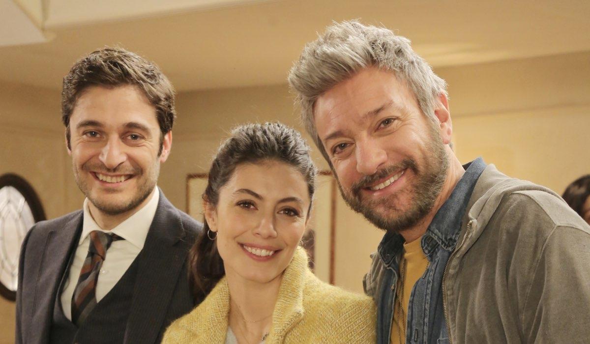 L'allieva 3 Alessandra Mastronardi, Lino Guanciale e Sergio Assisi in un posato Credits P. Bruni e RAI