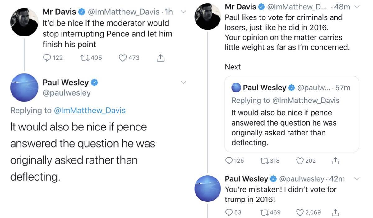 Matt Davis Paul Wesley Twitter credits @ImMatthew_Davis e @paulwesley