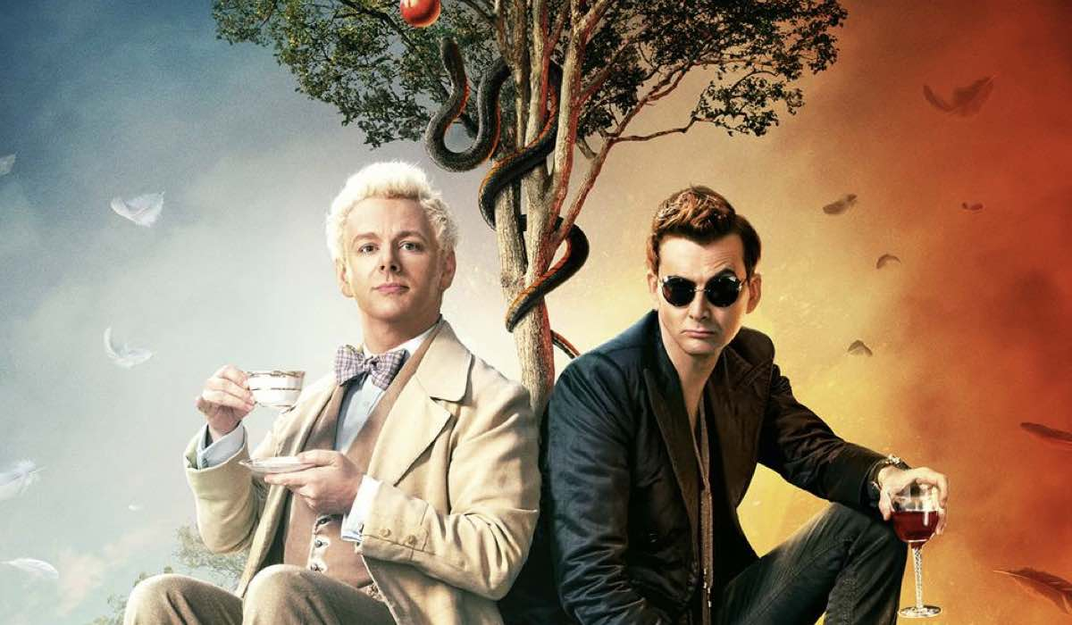 Michael Sheen e David Tennant sono Aziraphale e Crowley in Good Omens credits Amazon Prime Video