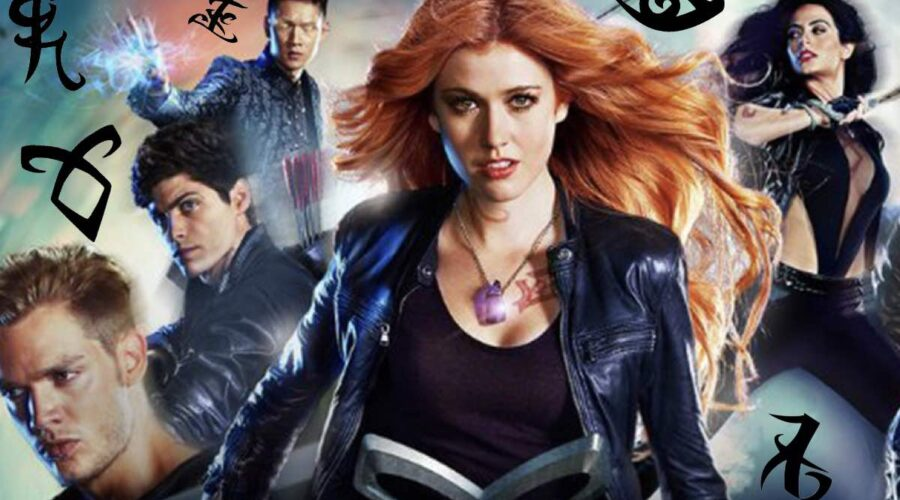 Shadowhunters Kat McNamara, Dominic Sherwood, Harry Shum Jr, Matthew Daddario, Emeraude Toubia credits Freeform