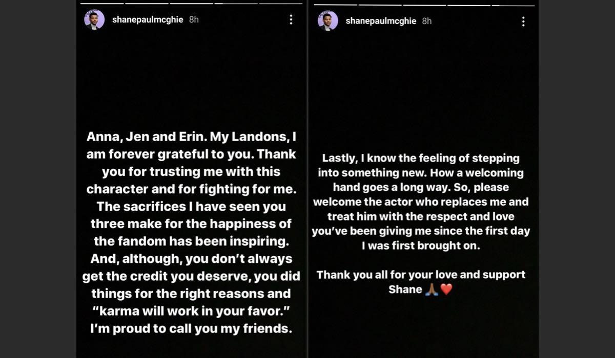 Shane Paul McGhie Instagram Story licenziamento After parte 2 credits @shanepaulmcghie