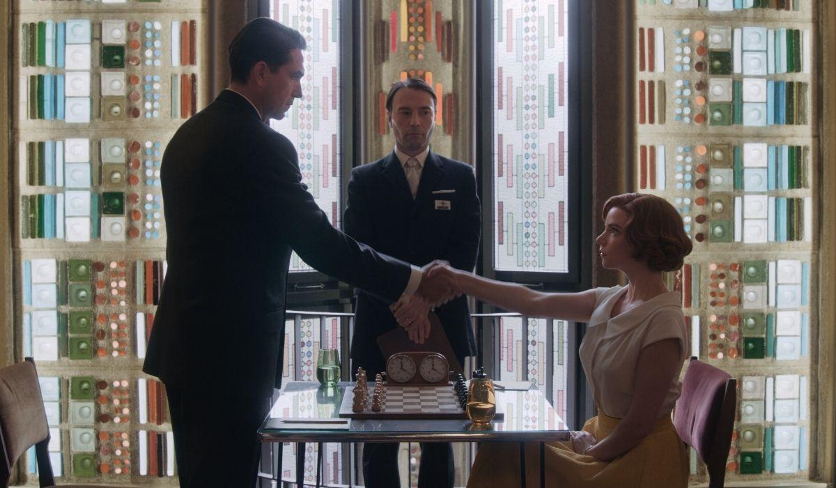 Una scena da La regina degli scacchi Credits Netflix