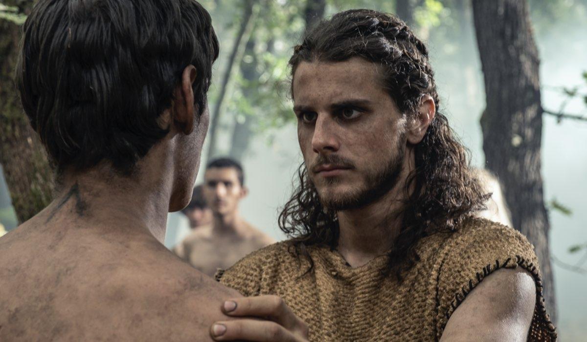 Andrea Arcangeli e Francesco Di Napoli sono Yemos e Wiros in Romulus 3 episodio, Credits Francesca Fago e Sky