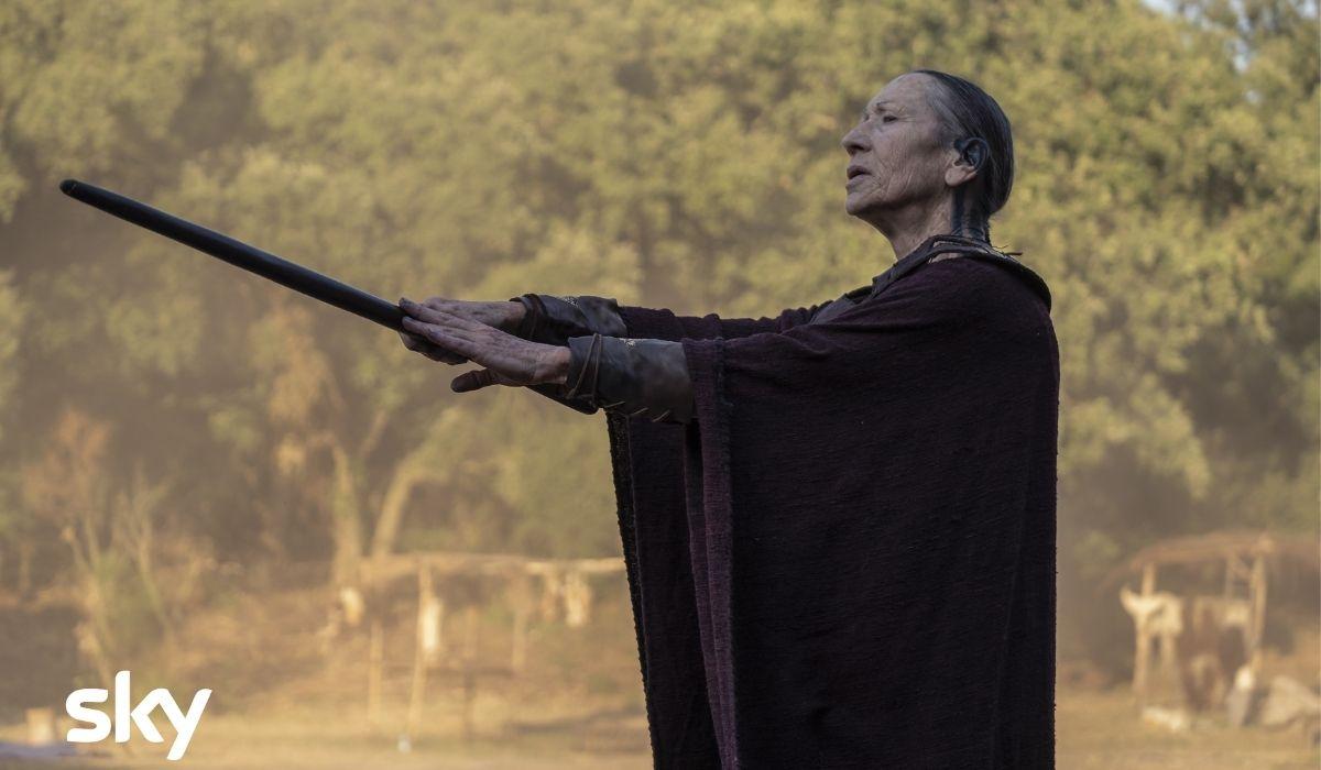 Carla Cassola è Aruspice in Romulus Credits Francesca Fago e Sky