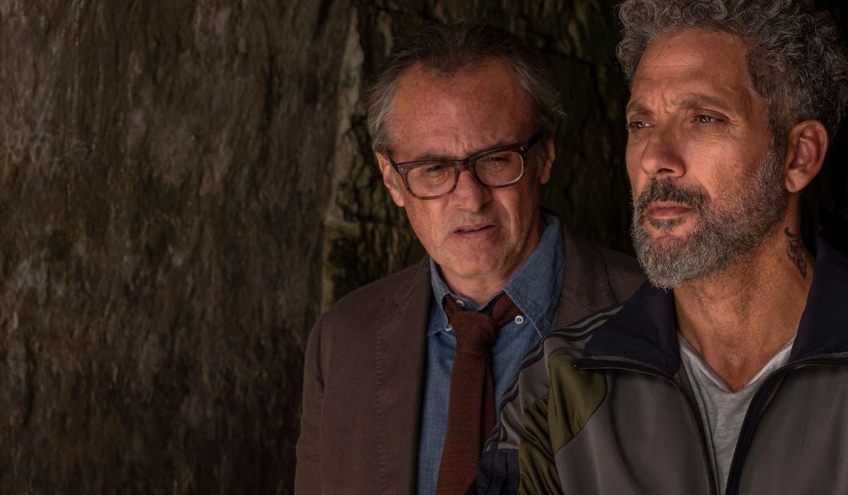Da sinistra Fabrizio Ferracane e Beppe Fiorello ne Gli orologi del diavolo Credits Anna Camerlingo