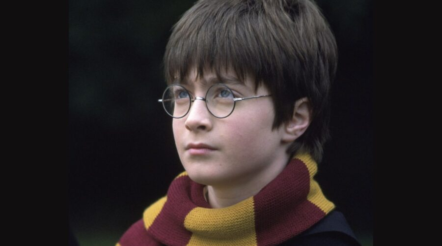Daniel Radcliffe è Harry in Harry Potter e la pietra filosofale. Credits: Warner Bros e Mediaset.