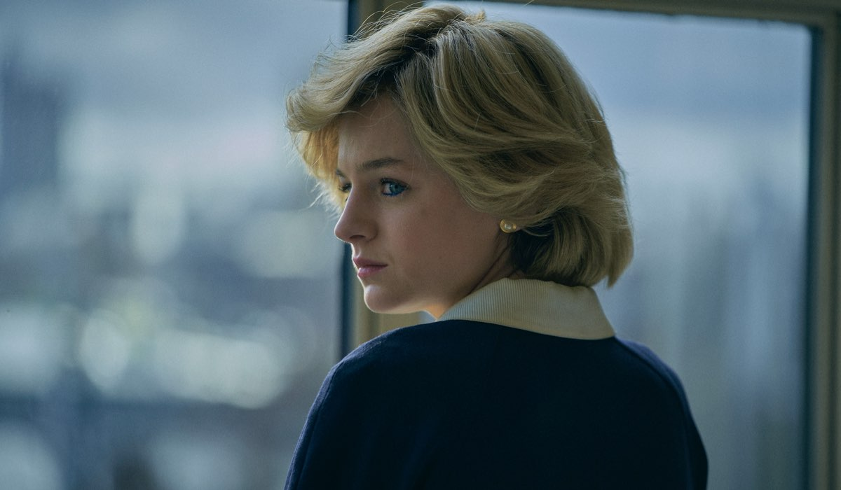 Emma Corrin (Lady Diana Spencer) in The Crown 4. Credits: Des Willie/Netflix.