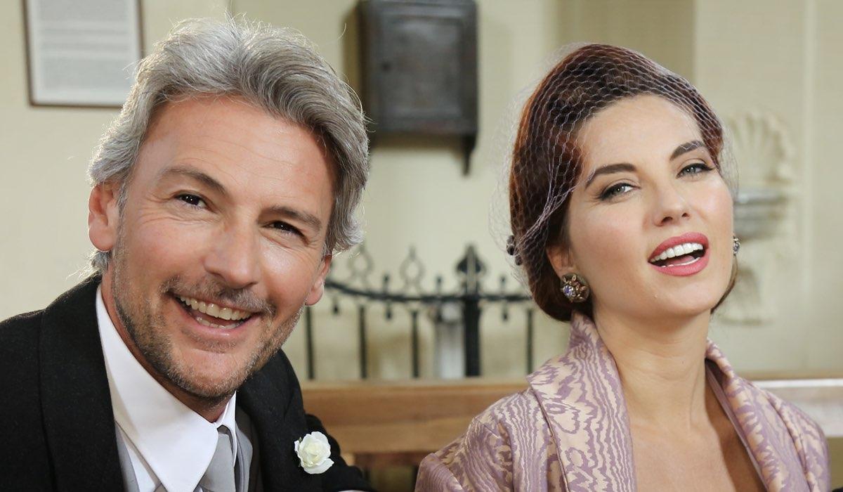Il Paradiso delle Signore 4 Umberto Guarnieri e Adelaide di Sant'Erasmo interpretati rispettivamente da Roberto Farnesi e Vanessa Gravina Credits P. Bruni e RAI