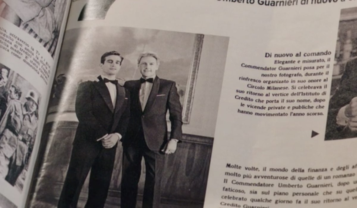 Il Paradiso delle Signore 5 la foto di Federico e Umberto pubblicata sul giornale, qui in una scena nella puntata 21 Credits RAI