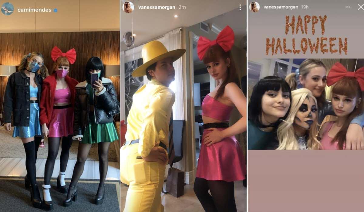Lili Reinhart, Madelaine Petsch, Camila Mendes, Cole Sprouse e Vanessa Morgan credits Instagram via Stories di @camimendes e @vanessamorgan