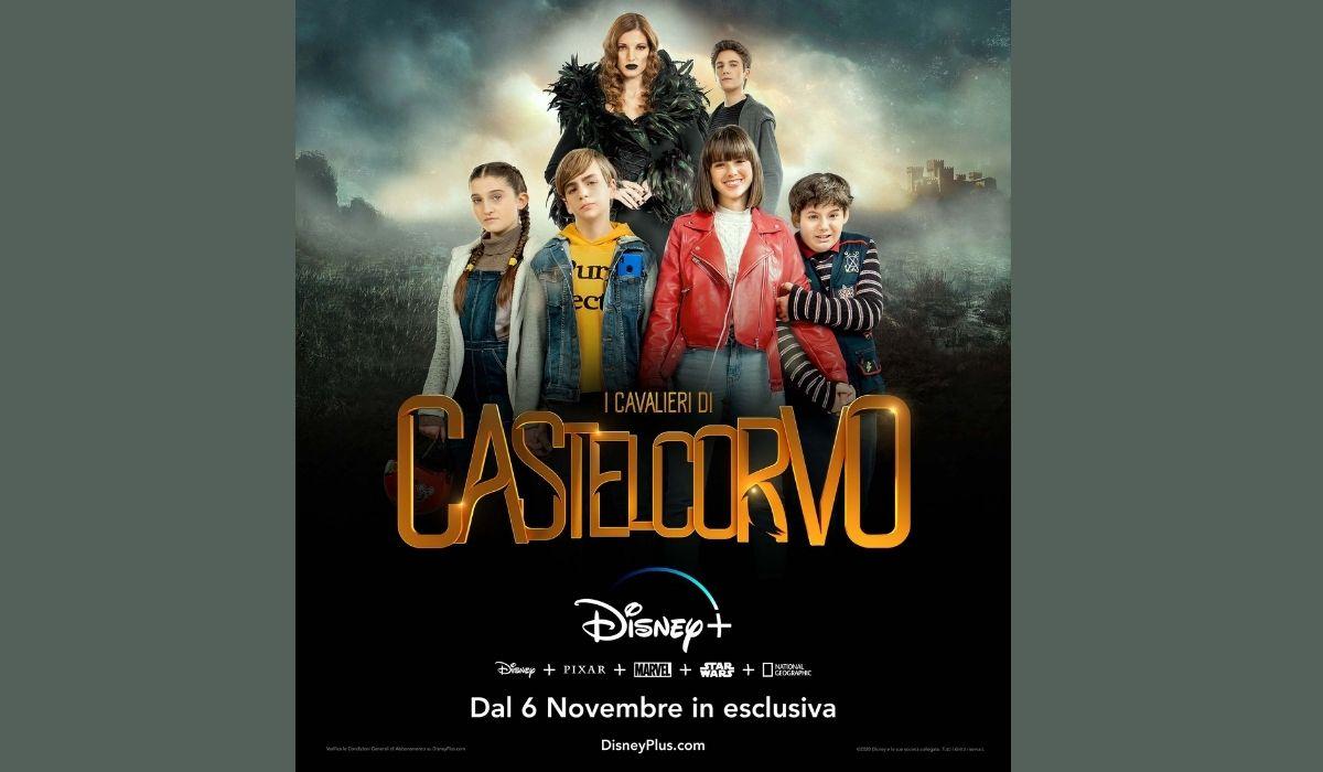 Locandina ufficiale de I cavalieri di Castelcorvo Credits Disney+