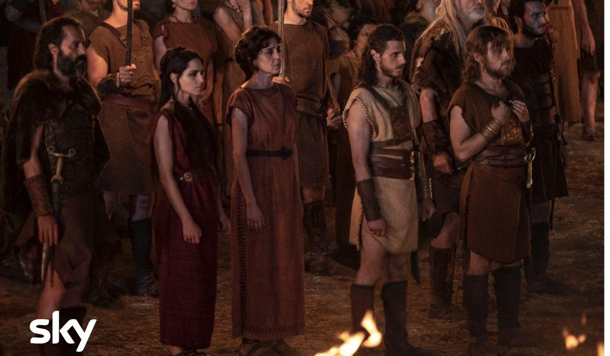 Una scena della serie tv Romulus con Vanessa Scalera Credits Francesca Fago e SKY Italia