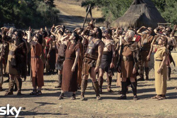 Una scena di gruppo della serie tv Romulus Credits Francesca Fago e SKY Italia