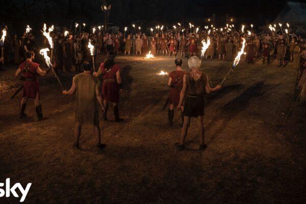 Una scena notturna della serie tv Romulus Credits Francesca Fago e SKY Italia