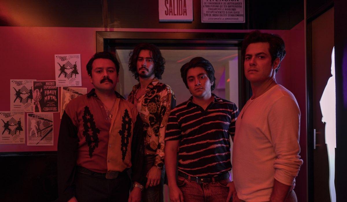 Francisco Barreiro, Manuel Masalva, José Julián eAlfonso Dosal In Narcos Mexico 3. Credits:Juan Rosas/Netflix