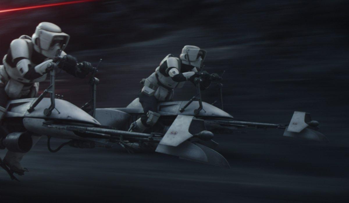 Scout Trooper su Nevarro. Credits: Lucasfilm e Disney Plus.