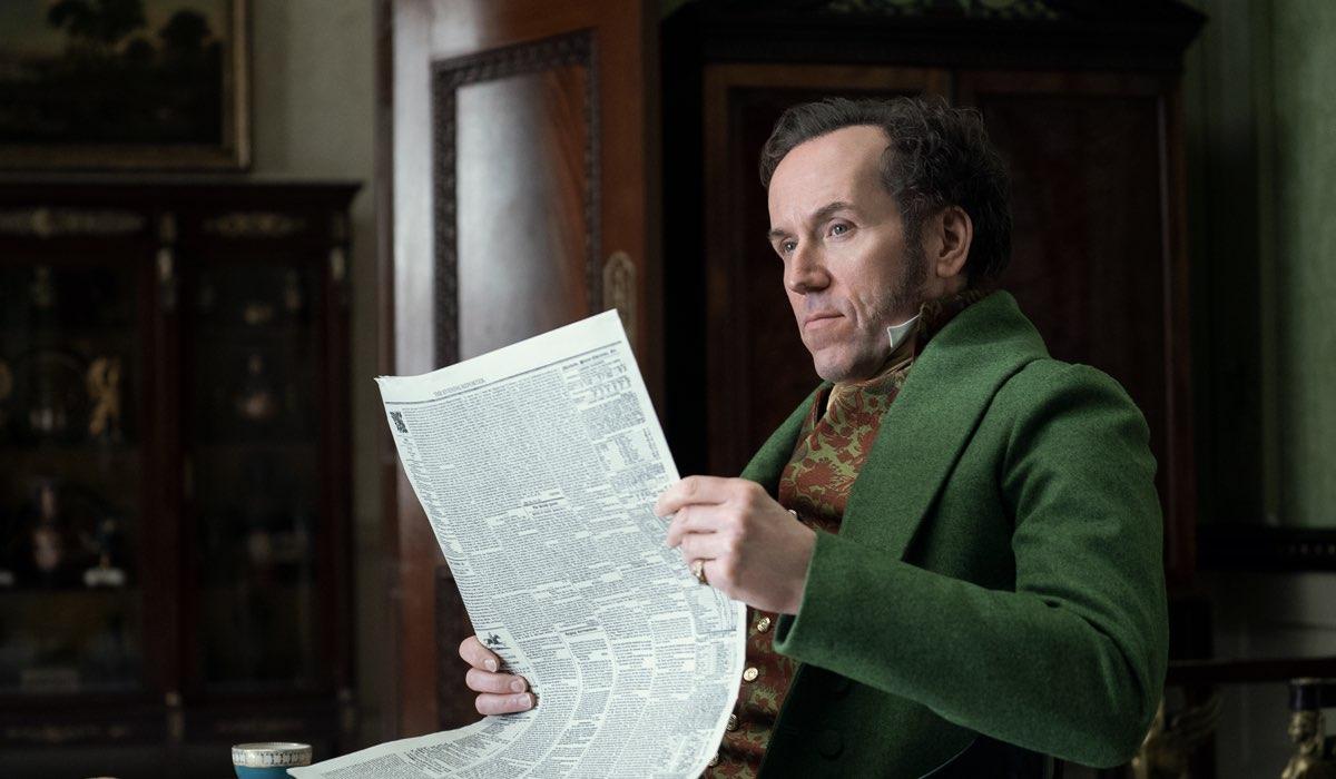 Lord Featherington (Ben Miller) fa infuriare più di una persona con le sue truffe. Credits: Liam Daniel/Netflix.