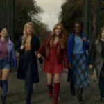 Le protagoniste nel sesto episodio di Fate: The Winx Saga. Da sinistra, Elisha Applebaum (Musa), Hannah van der Westhuysen (Stella), Abigail Cowen (Bloom), Precious Mustapha (Aisha), e Eliot Salt (Terra). Credits: Jonathan Hession/Netflix.