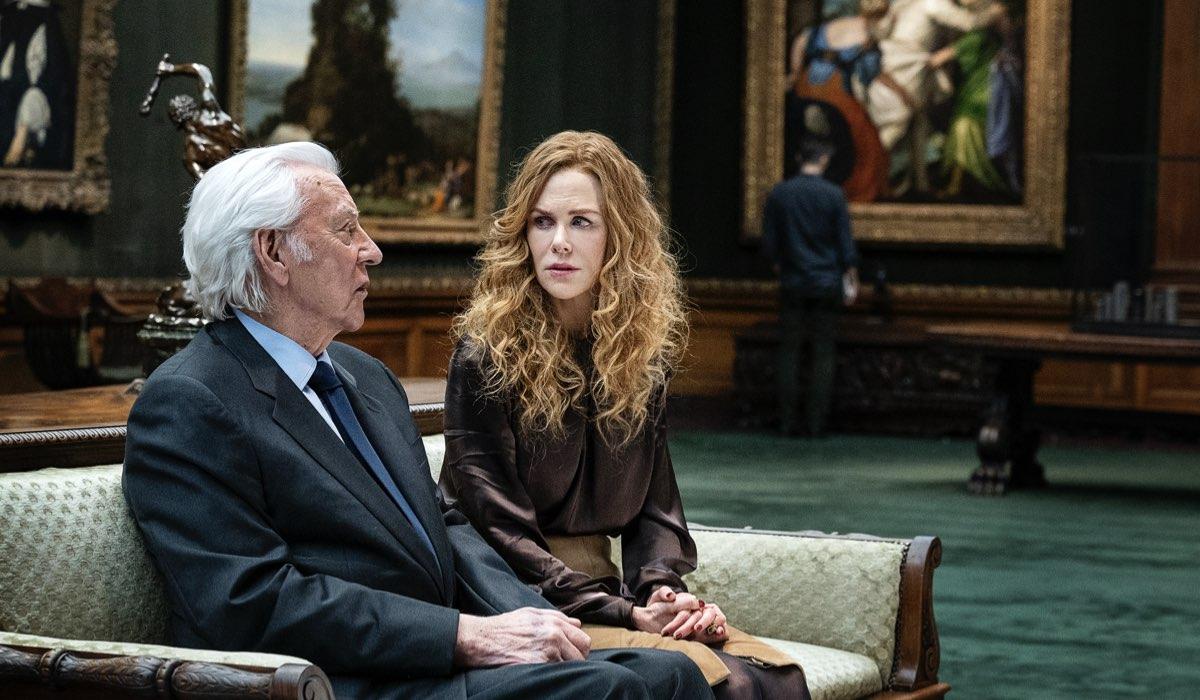 Da sinistra: Donald Sutherland (Franklin Reinhardt) e Nicole Kidman (Grace Fraser) in una scena di The Undoing. Credits: HBO/Sky Italia.