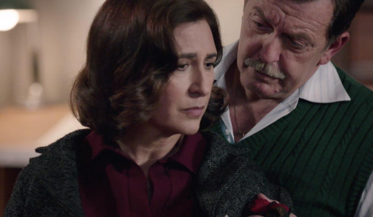 Il Paradiso Delle Signore 5 Agnese Amato e Armando Ferraris interpretati da Antonella Attili e Pietro Genuardi qua nella puntata 47 Credits Rai