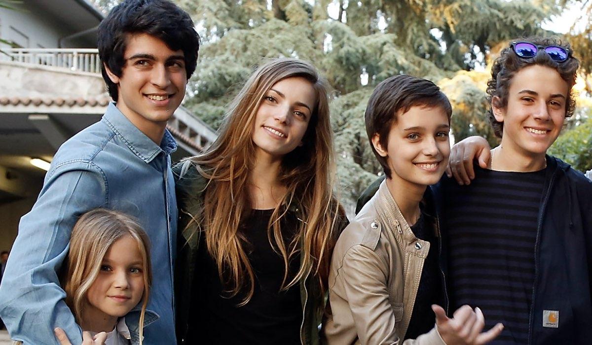 nella foto cloe romagnoli carmine buschini e aurora ruffino al premio tv 2005 awards credits elisabetta a villa getty images