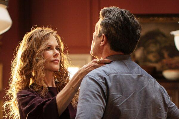 Nicole Kidman e Hugh Grant in una scena di The Undoing - Le Verità Non Dette Credits HBO e Sky
