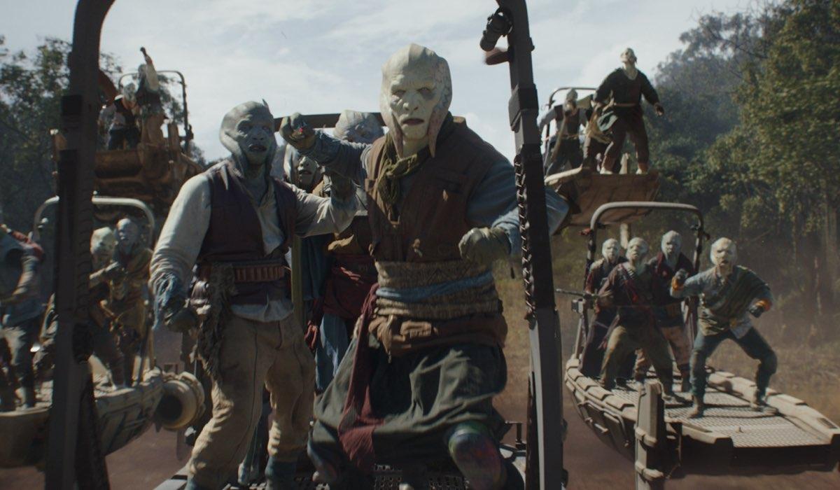 """Pirati Shydopp in The Mandalorian Stagione 2 Episodio 7 """"Il Vendicatore"""". Credits: Disney/LucasFilm."""