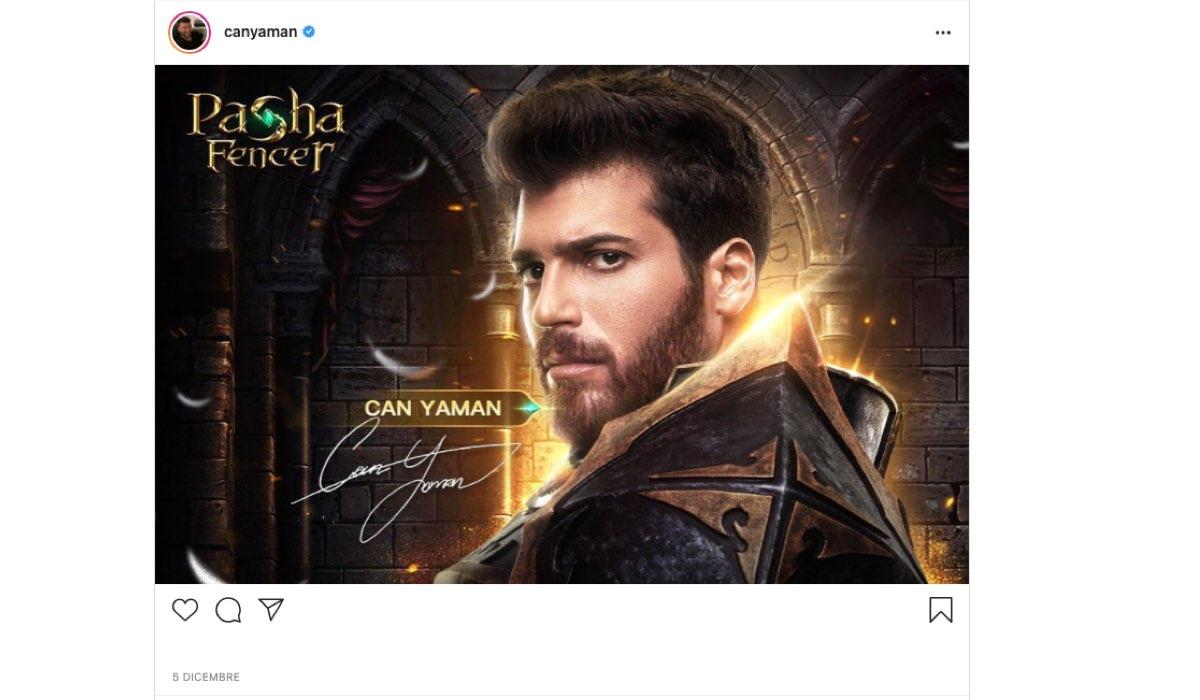 Post Instagram di Can Yaman condiviso sul suo Profilo Ufficiale