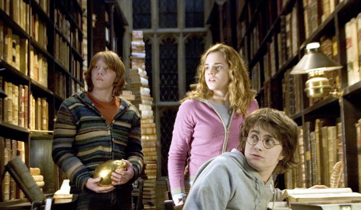 ron hermione e harry in harry potter e il calice di fuoco credits warner bros
