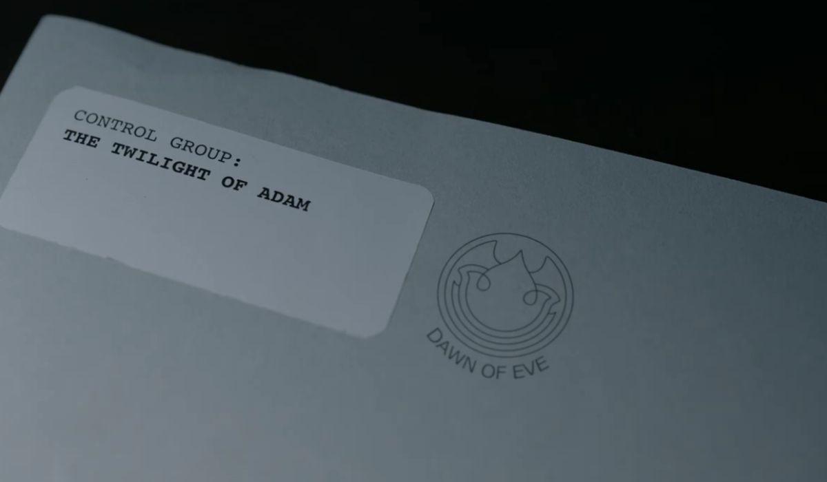 """""""Twilight of Adam"""": il dossier sul gruppo di controllo """"Il Tramonto di Adamo"""". Credits: Amazon Prime Video."""
