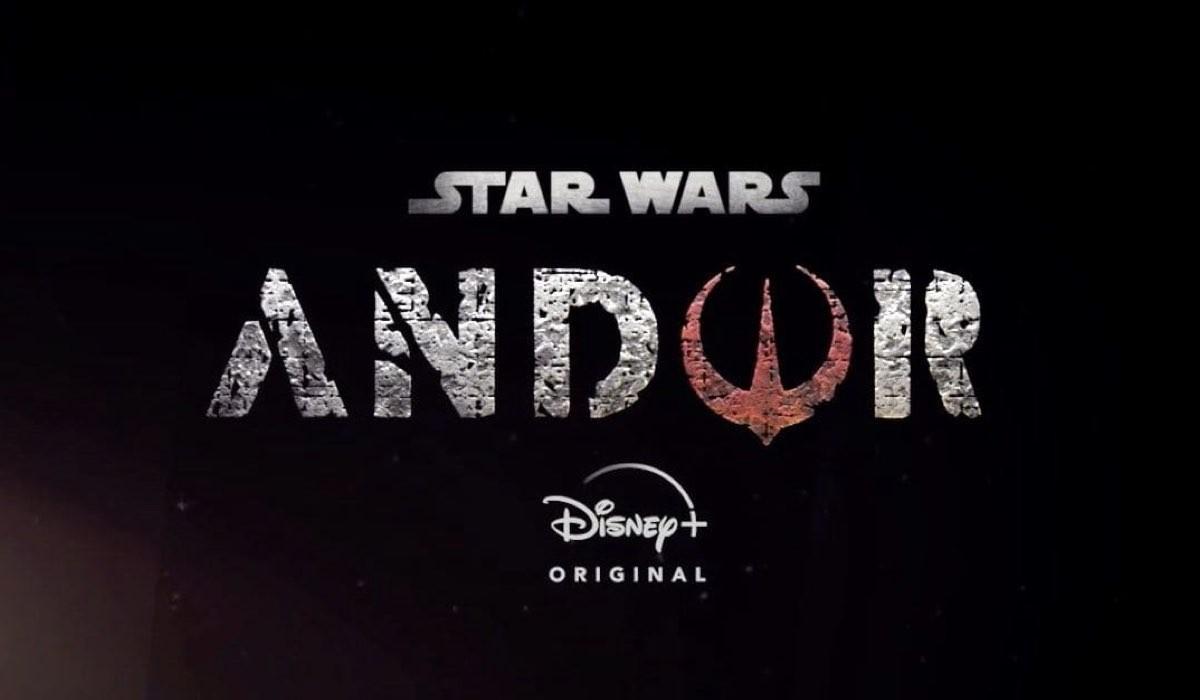 Title card e logo di Andor, la serie tv di Star Wars. Credits: Lucasfilm/Disney.