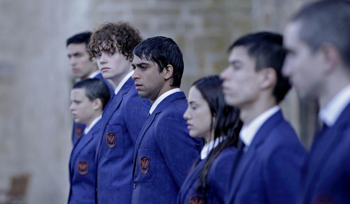 El Internado: Las Cumbres: gli attori Albert Salazar e Gonzalo Díez. Credits: Amazon Prime Video.