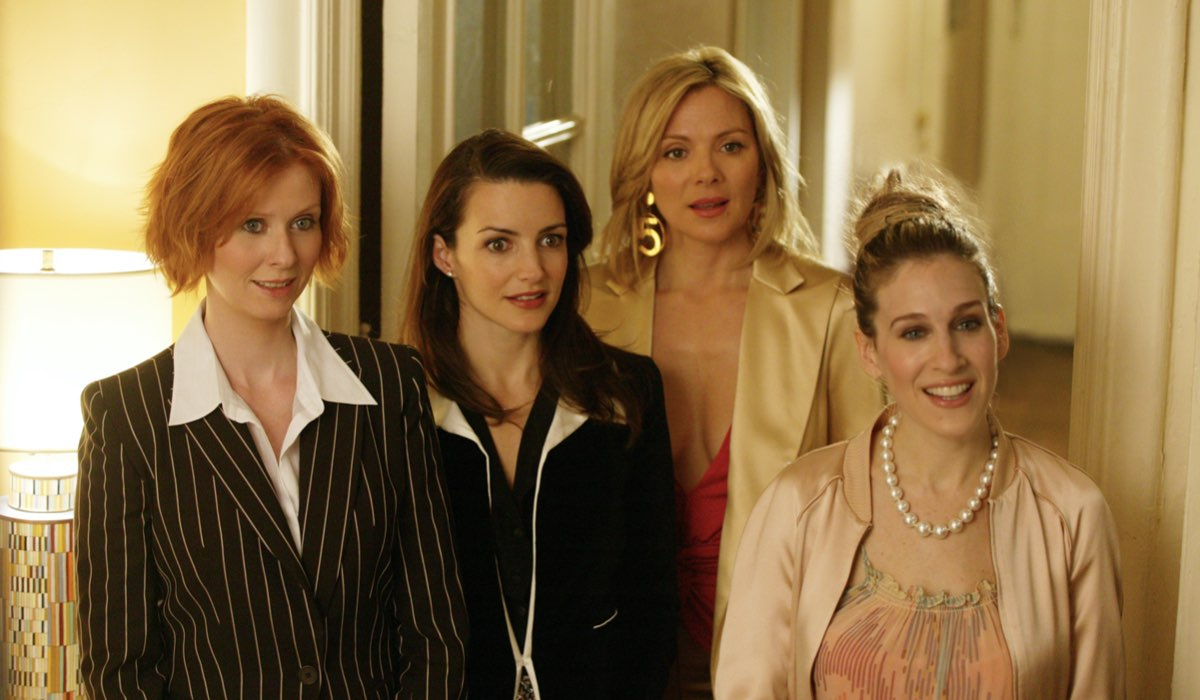 Da sinistra: Cynthia Nixon, Kristin Davis, Kim Cattrall e Sarah Jessica Parker. Credits: HBO via Sky Italia.