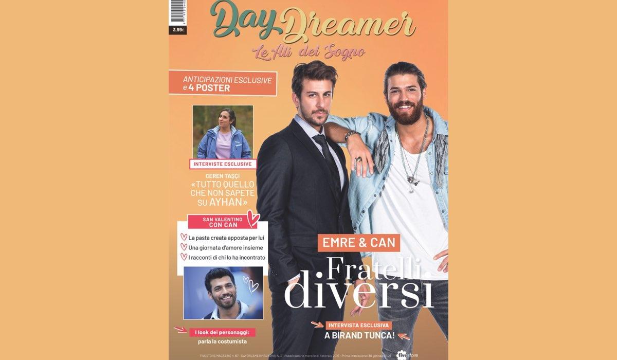 Daydreamer Magazine Copertina Numero 3. Credits: Mediaset
