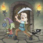 Disincanto: un'immagine della serie con Elfo, Bean e Luci. Credits: Netflix.