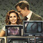 Da sinistra: Elizabeth Olsen e Paul Bettany sul poster di WandaVision. Credits: Marvel Studios/Disney Plus.