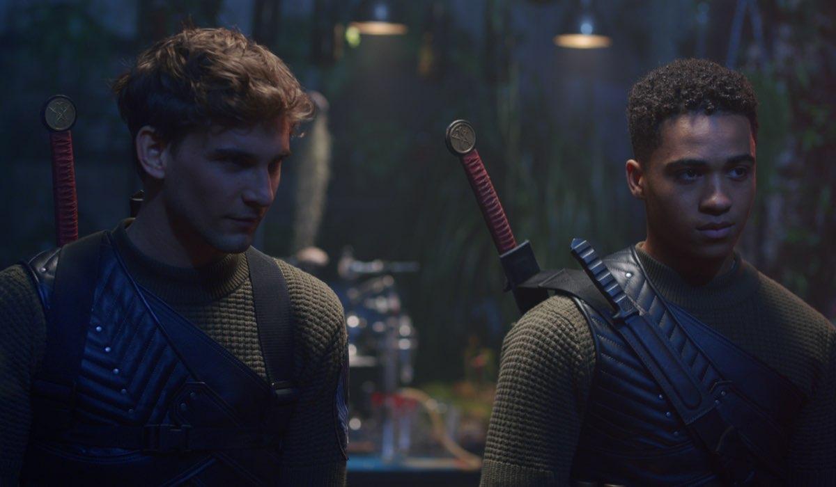 Freddie Thorp e Theo Graham sono Riven e Dane in Fate: The Winx Saga. Credits: Jonathan Hession/Netflix.