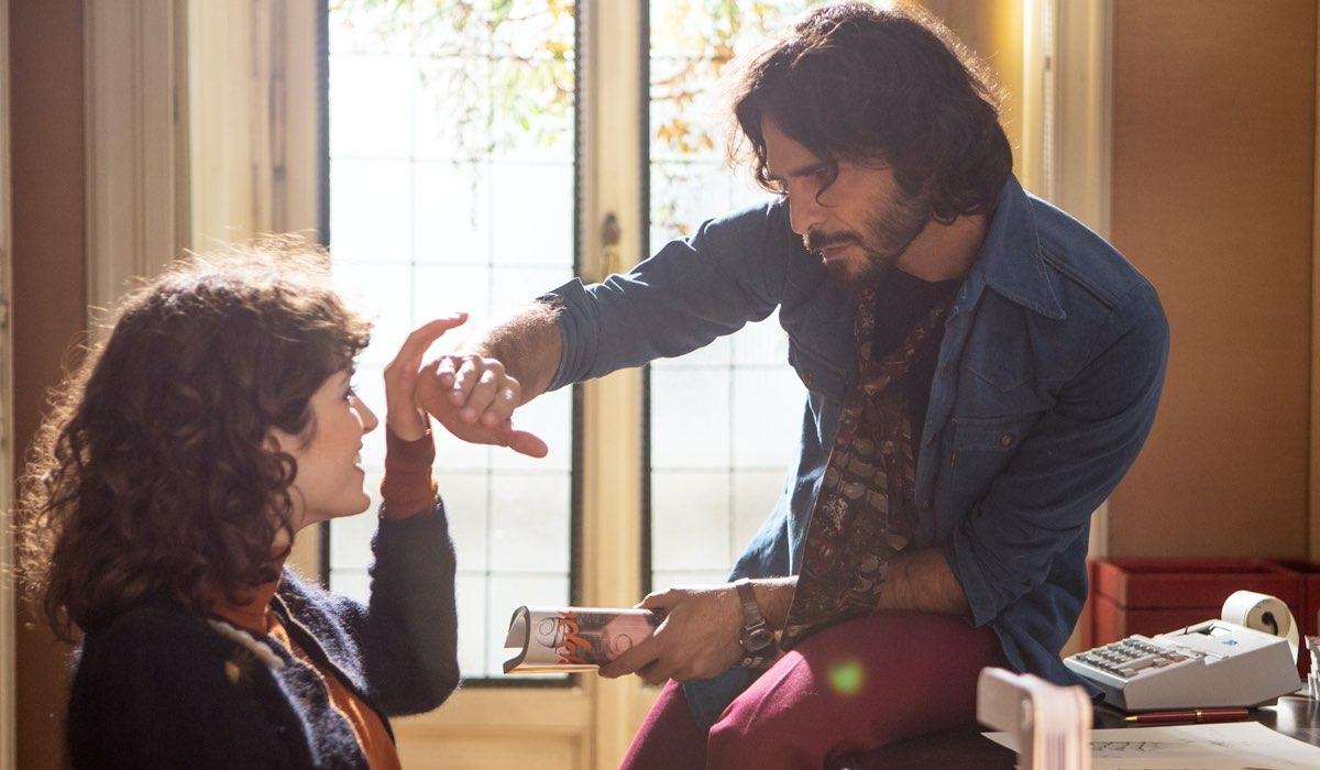 Greta Ferro e Marco Bocci nella fiction Made In Italy. Credits: Mediaset