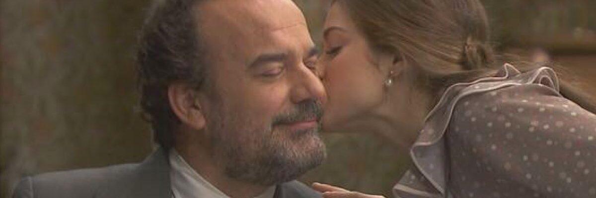 Ignacio insieme alla Figlia Carolina ne Il Segreto. Credits: Mediaset