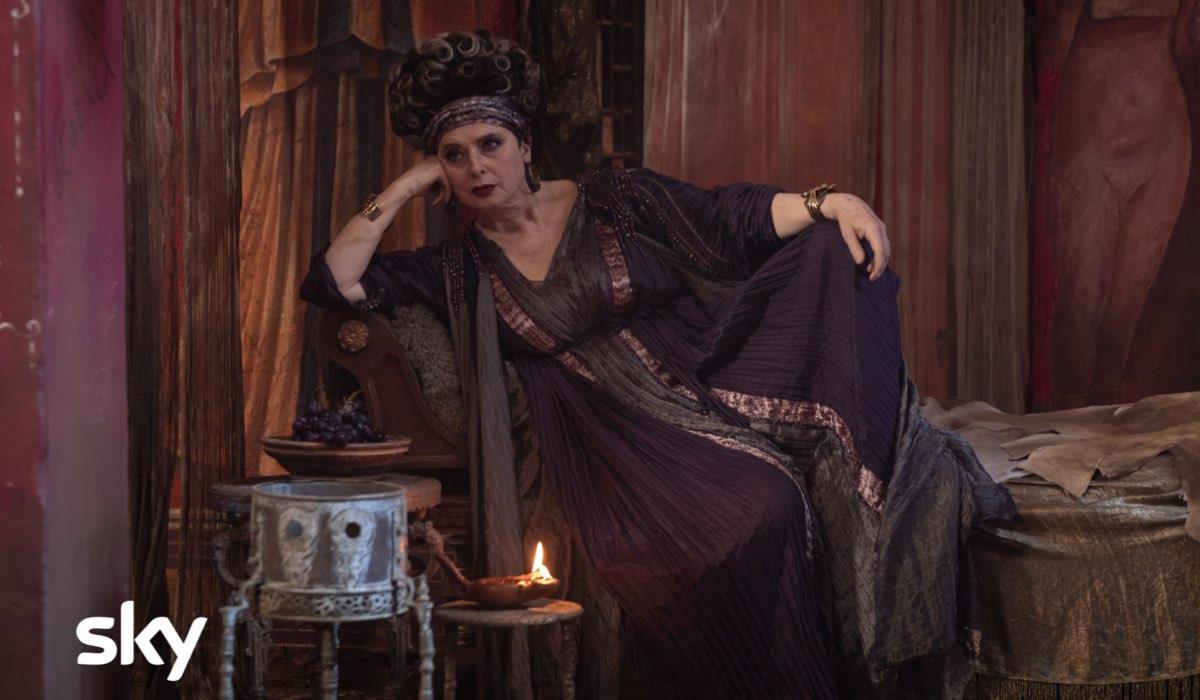 Isabella Rossini interpreta Balbina in Domina. Credits: Antonello & Montesi/Sky.