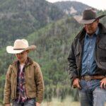 John Dutton con il nipotino in Yellowstone 3. Credits: Sky Italia