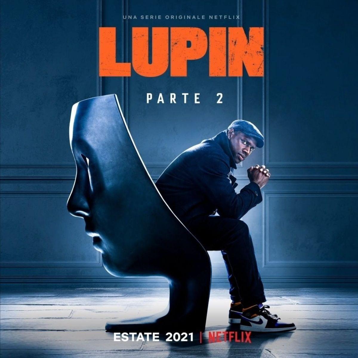 Il poster della seconda parte di Lupin. Credits: Netflix.