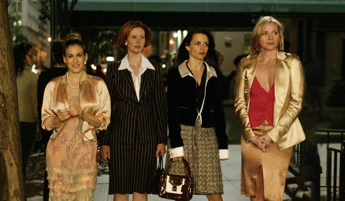Da sinistra: Sarah Jessica Parker, Cynthia Nixon, Kristin Davis, e Kim Cattrall. Credits: HBO via Sky Italia.